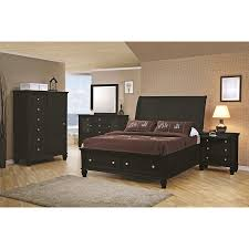 Bed Set With Drawers by Coaster Sandy Beach Queen Size Storage Bed In Black Finish For