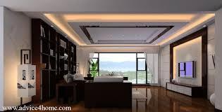 Living Room Ceiling Design Warm Living Room With Intricate - Living room ceiling design photos