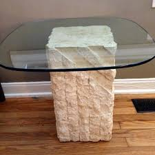 stone and glass coffee table best glass top stone end tables 2 for sale in nashville incredible