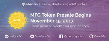 smart class online register syncfab mfg token sale to incentivize manufacturing working class