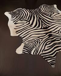 Zebra Rug Pottery Barn by Everybody U0027s Doing It Zebra Cowhide Rugs Decor Look Alikes