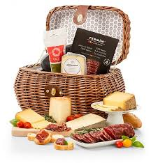 meat and cheese gift baskets deluxe cured meats and imported cheese gift cheese