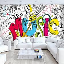 Online Get Cheap Graffiti Bedroom Wallpaper Aliexpresscom - Graffiti bedroom
