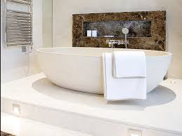 bathroom using our madison bath in lime white set on a raised