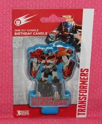 optimus prime cake topper transformers optimus prime birthday candle cake topper blue