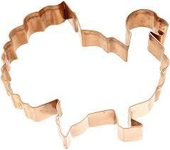 river road turkey shape cookie cutter copper