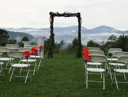 wedding venues in carolina one of ceremony at the cabin ridge a mountaintop wedding