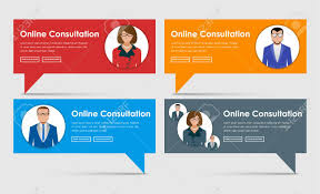 design online quotes banner design online consultation support banner on the leg