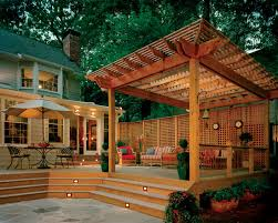 decorating traditional deck with pergola also decks with lattice