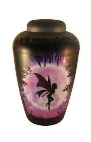bio urn bae1304 magical fairy airbrushed funeral urn