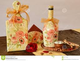 Handmade Home Decoration Items by Handmade Decoration With Antique Effects And Decoupage Stock Photo