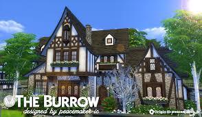 the burrow u0027 tudor house by peacemaker ic teh sims