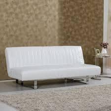 canapé clic clac cuir clic clac reverso simili cuir blanc achat vente clic clac