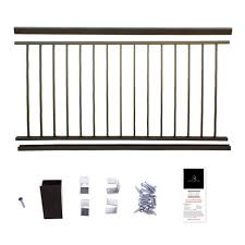 Udecx Home Depot by Powder Coated Aluminum Preassembled Deck Railing 36 In X 6 Ft