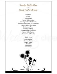 one page wedding program template printable dandelion wedding program template