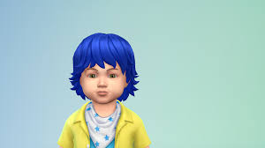 sims 4 blue hair unnatural hair recolours for children and toddlers genetic the