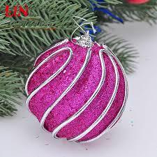 christmas decorate decoration 8cm rose red thread foam natal balls