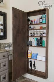 diy bathroom mirror storage case shanty 2 chic