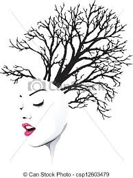 vectors illustration of tree hair csp12603479 search clipart