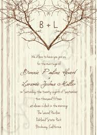 printable wedding invitation 5x7 branch heart vintage