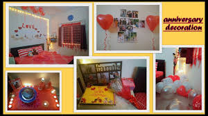 surprise decoration at home anniversary room decoration by