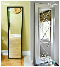want a quick frugal fabulous decor update upcycle a door mirror