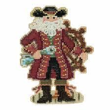 jamaica santa beaded counted cross stitch christmas ornament kit