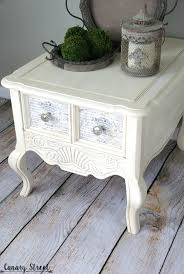 Chalk Paint Side Table French Provincial Side Table Canary Street Crafts