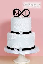 infinity symbol wedding cake topper