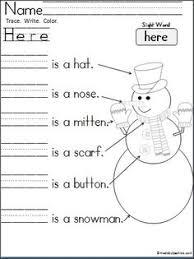 free mitten color word practice great for pre k and kindergarten