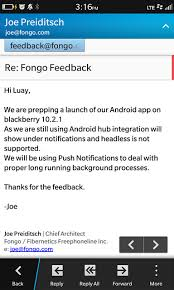 blackberry app world for android fongo is coming via blackberry app world android port