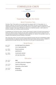 Financial Advisor Resume Example by Tax Preparer Resume Samples Visualcv Resume Samples Database