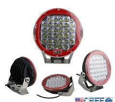 round led lights for jeep 96w 9 9 inch red cree led work light bar led driving worklight jeep