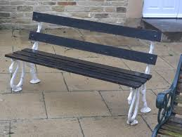 tennants auctioneers victorian cast iron garden bench with