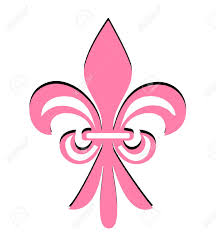 fleur de lis pink flower vector royalty free cliparts vectors