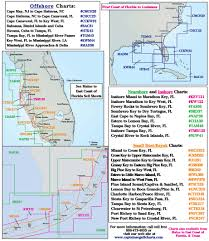 Map East Coast Florida by Coastline Layout Captain Segull U0027s