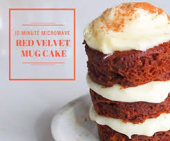 red velvet mug cake made in the microwave 9 steps with pictures
