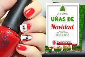 uñas navideñas con santa claus u2013 christmas nail art diy u2013 video