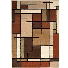 Brown Throw Rugs Shop Allen Roth Addington Brown Rectangular Indoor Machine Made