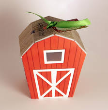red barn home decor instant download barn favor box farm party decoration gift