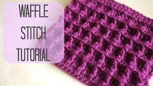 crochet how to crochet the waffle stitch bella coco youtube