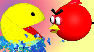 angry birds pixels 3d animated mashup parody