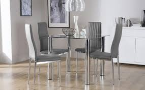 Glass Dining Room Furniture Glass Dining Table And Chairs Leandrocortese Info