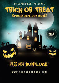 free halloween trick or treat box templates super spooky fun