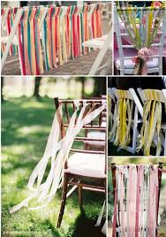 chair ribbons getting creative with your wedding chairs weddbook