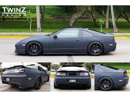 1990 nissan 300zx twin turbo wide body kit twinz design rear wing spoiler type 3 short nissan 300zx 90 96