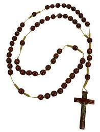 wooden rosary 36 wall wooden rosary 15 mm solid cherry wood with 3 5