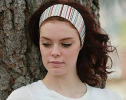 cloth headbands blue headband wide headband blue band wide band