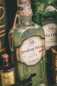 dyi harry potter potions for halloween shrinking potion