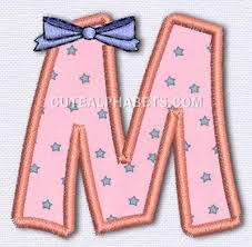 letter m cute alphabets embroidery fonts